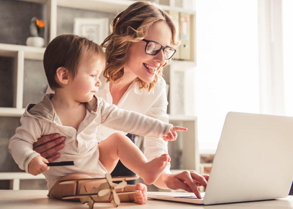 パソコンと親子